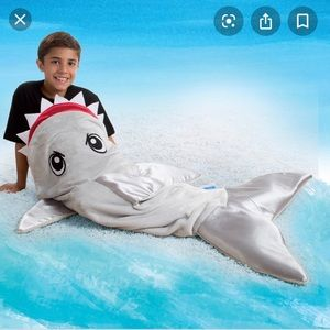 "NWT ""Snuggie tails"" shark blanket"